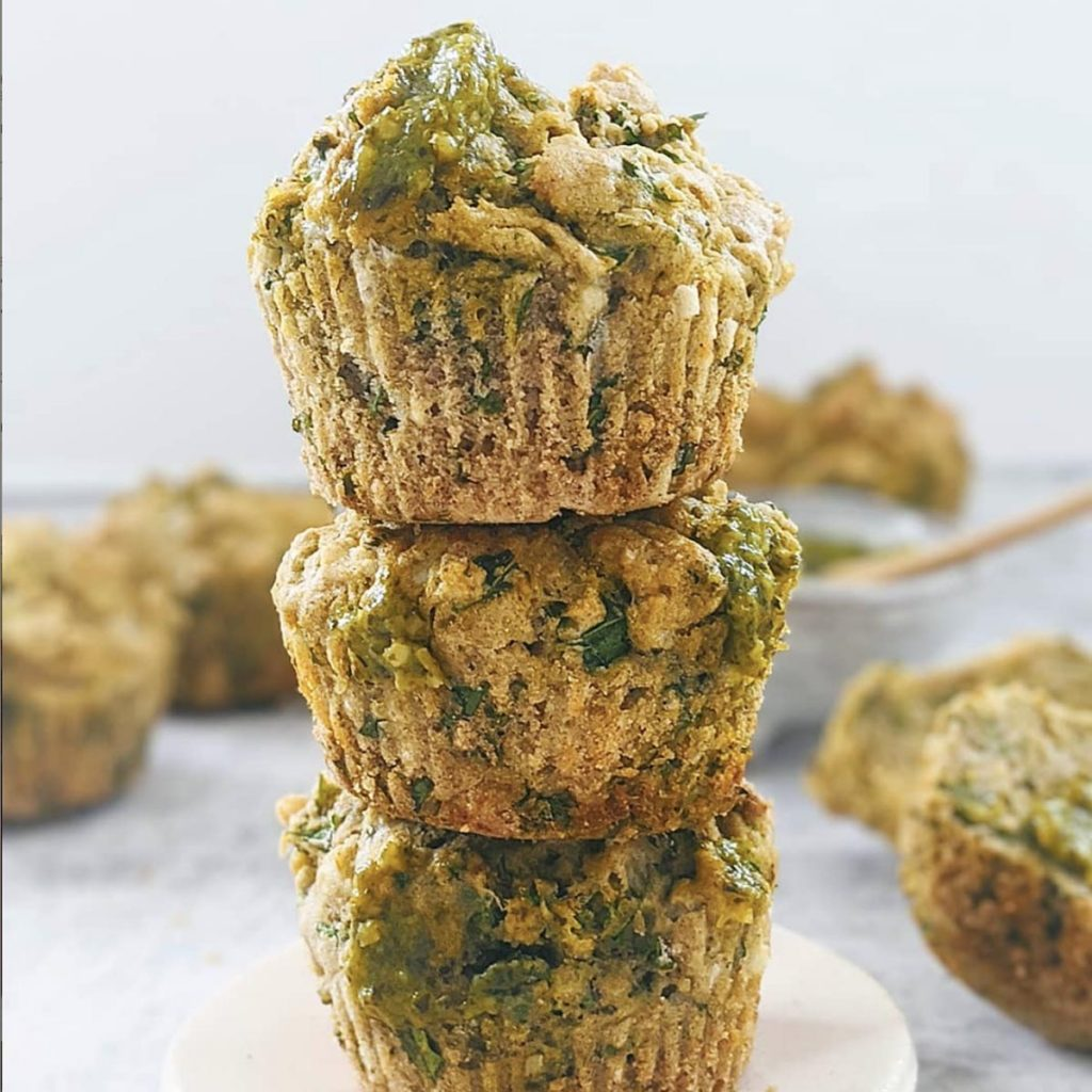 Pesto and Kale Muffins