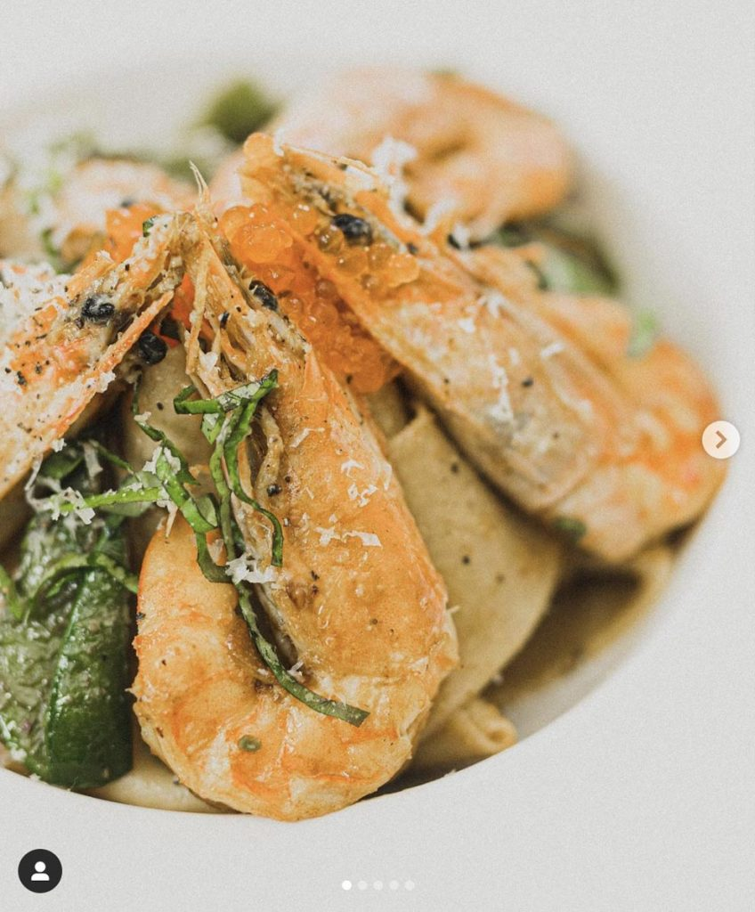 Spicy King Prawn Pappardelle